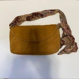 VICTORIA'S SECRET VELVET BAG WITH SCARF STRAP